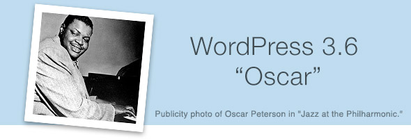 WordPress 3.6 – Oscar – Has Launched