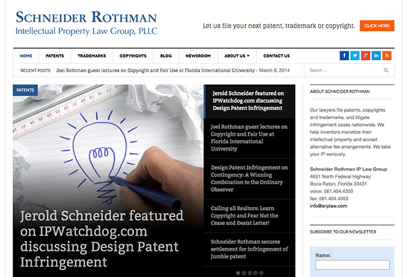 Schneider Rothman Redesigns Their Site