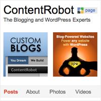 ContentRobot has a Google+ Page