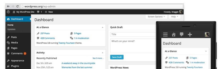 Welcome WordPress 3.8